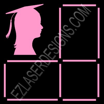female graduate silhouette